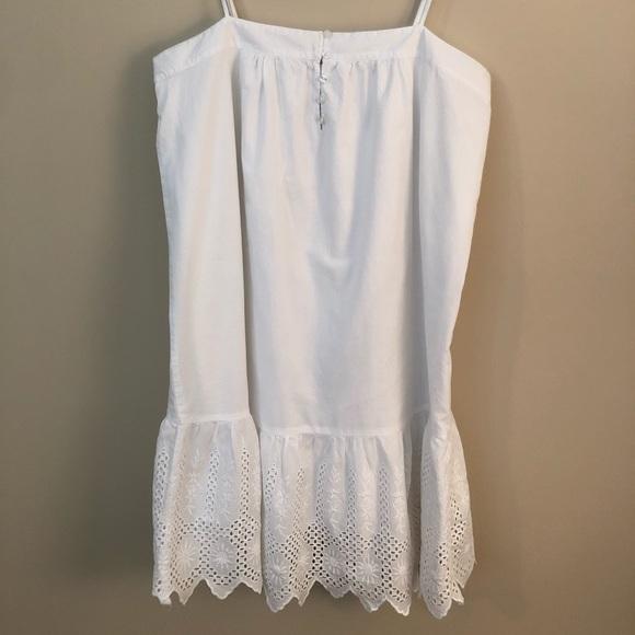LOFT Dresses & Skirts - White sundress with eyelet trim